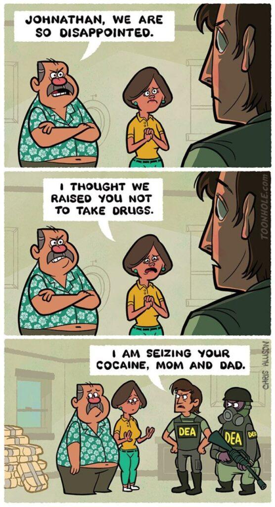 Drug bust comic