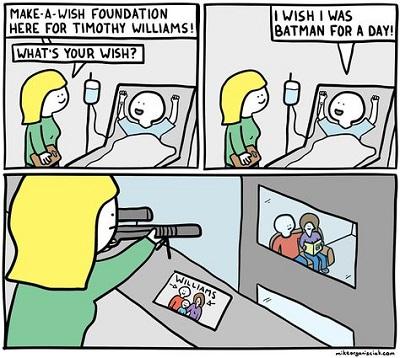 Make a wish comic