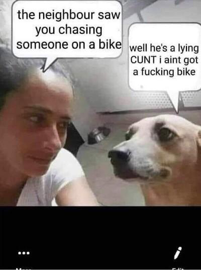 I ain't got no bike!