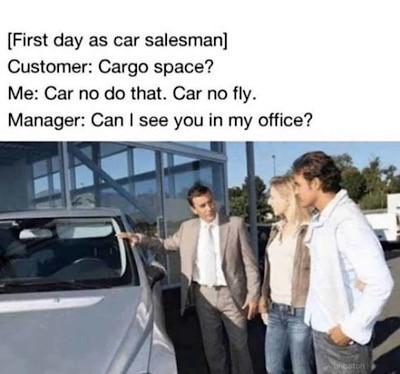 Wiseguy car salesman