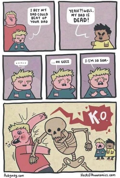 Dead dad comic