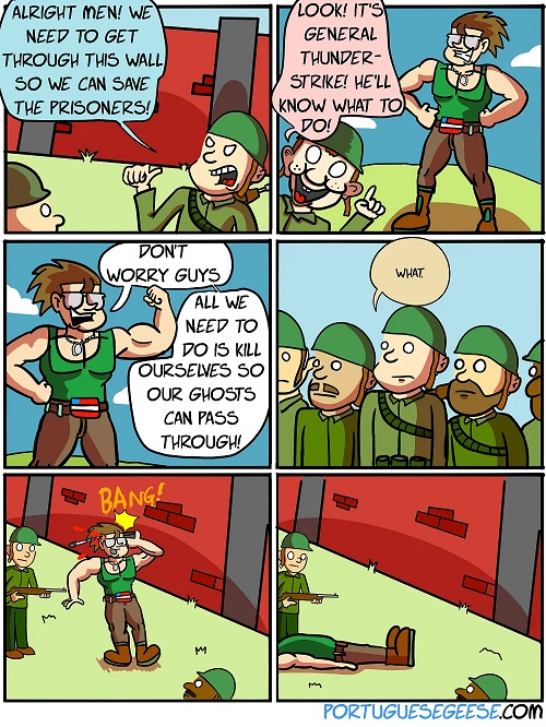 over the top comic
