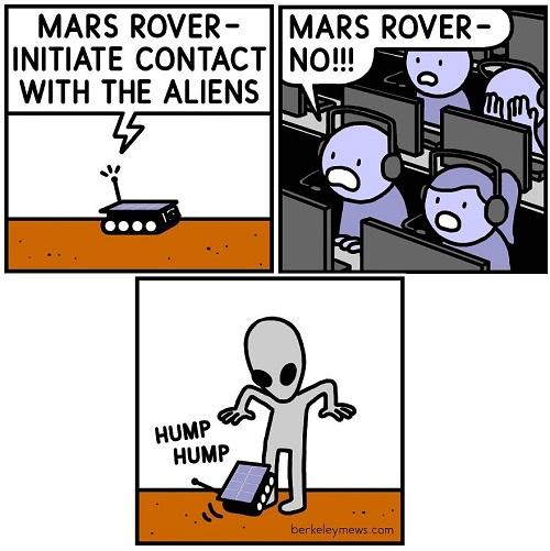 mars rover comic