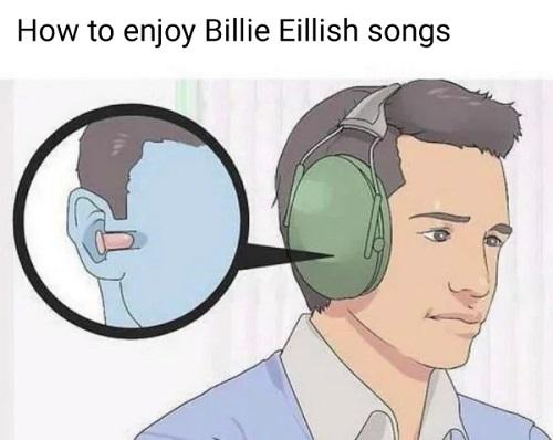 billie eillish meme