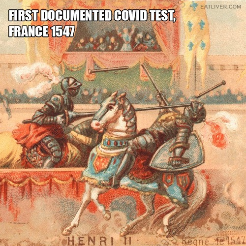 first covid test meme
