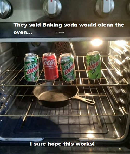 clean oven with baking-soda meme