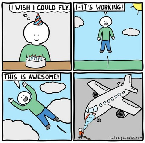 I can fly comic