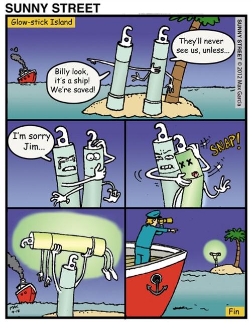 Lost at sea comic